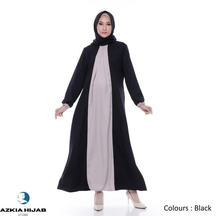 Terbaru Gamis Wanita Original| Zoe Maxi | Dress Muslim Polos | Azkia Hijab - Pink Real Pict