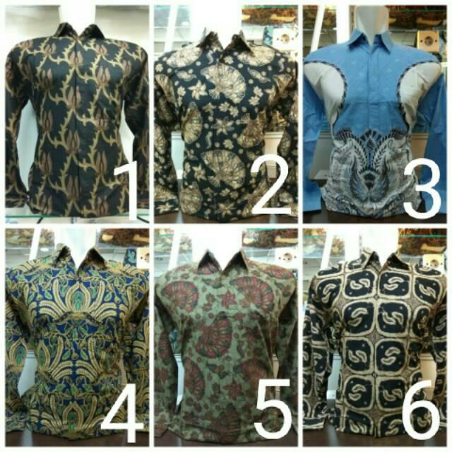 Kemeja Baju Batik Couple Modern Sogan Pria Katun Kantor Seragam Ika Fashion  Tanah Abang Murah  d08c242693