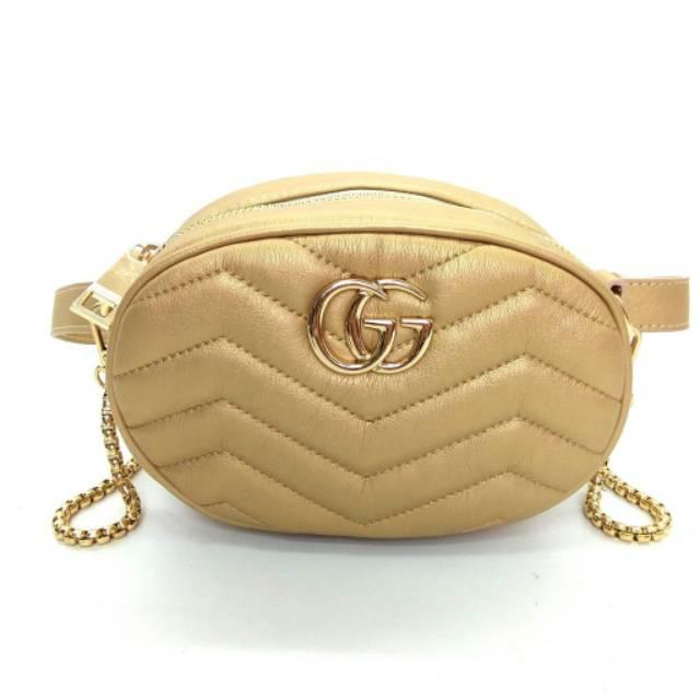 Tas GUCCI BELT MINI BAG NAGITA FASHION Murah Batam Wanita Import Pinggang Waist  Bag Selempang 525a3b9f72