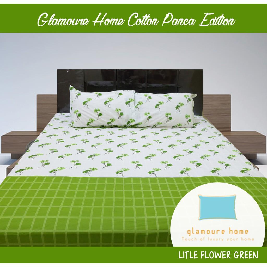 Bedcover Set Internal Valerie Quincy Dark Green 160x200x30 Shopee Vallery Sprei 180x200x30 Indonesia