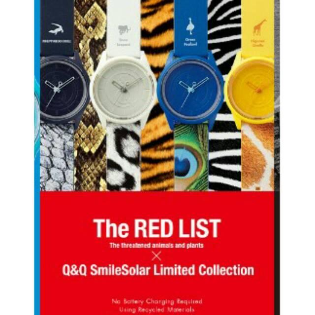 [Original] Q&Q Smile solar The Red List Series | Shopee Indonesia