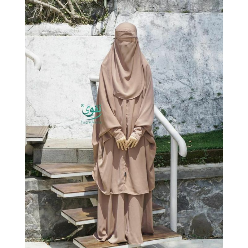 Set safaraz  / setelan hijab syari / french hijab / french khimar
