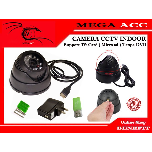 CAMERA CCTV MICRO SD CCTV MEMORY MICRO TANPA DVR FREE Adaptor | Shopee Indonesia
