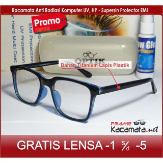 Frame Kacamata Sporty + Lensa Minus Plus Anti Radiasi Komputer Uv Hp Pria  wanita Korea cewek cowok 241c23011d