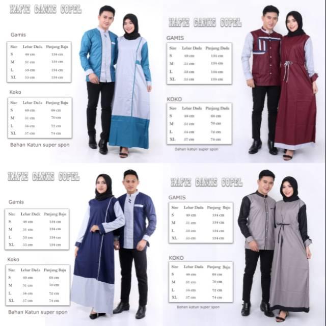 Couple Busana Muslim Muslimah Seragam Busana Muslim Busana Muslim Muslimah Terbaru Koko Gamis Shopee Indonesia