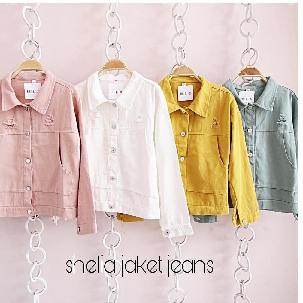 "UST Sweater Jaket ""SF Sheila Jeans"" Lucu Wanita Jeans Baju Santai Murah Keren 2018   Shopee Indonesia"