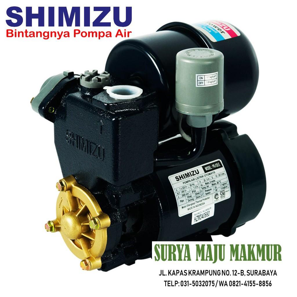 Pompa Air Shimizu PS 135 E PS135E Otomatis Tabung SNI ...