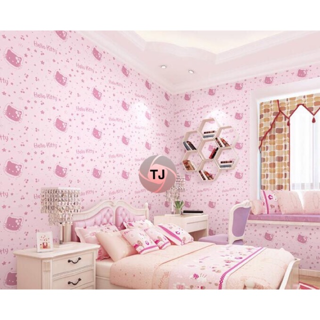 Lng Promo 10 Meter Wallpaper Hello Kitty 10 Meter 45 Cm