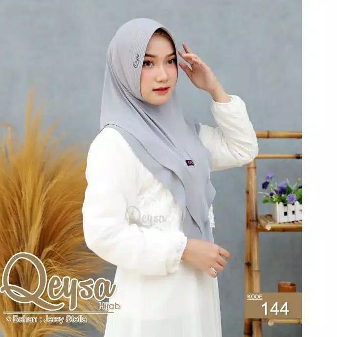 Penawaran Terbaik#  Qeysa Original / Qeysa Hijab kode 144 / Qeysa V tumpuk ..,,,,,,,,!