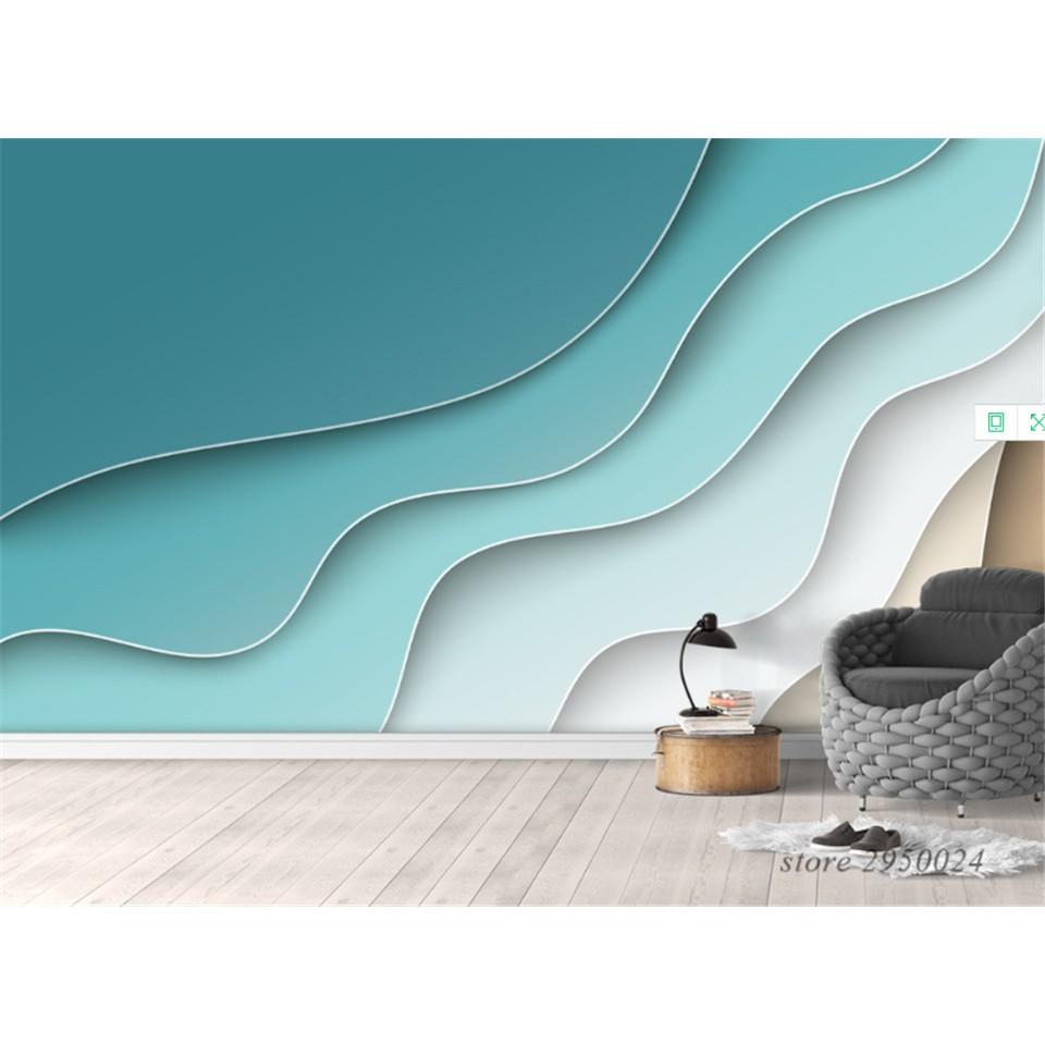 Kustom A Eropa 3d Foto Mural Wallpaper Abstrak Garis Nordic Latar Belakang Dinding Dekorasi