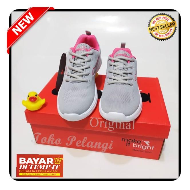 Original Sepatu Wanita Running Diadora Incisa Grey Pink Shopee