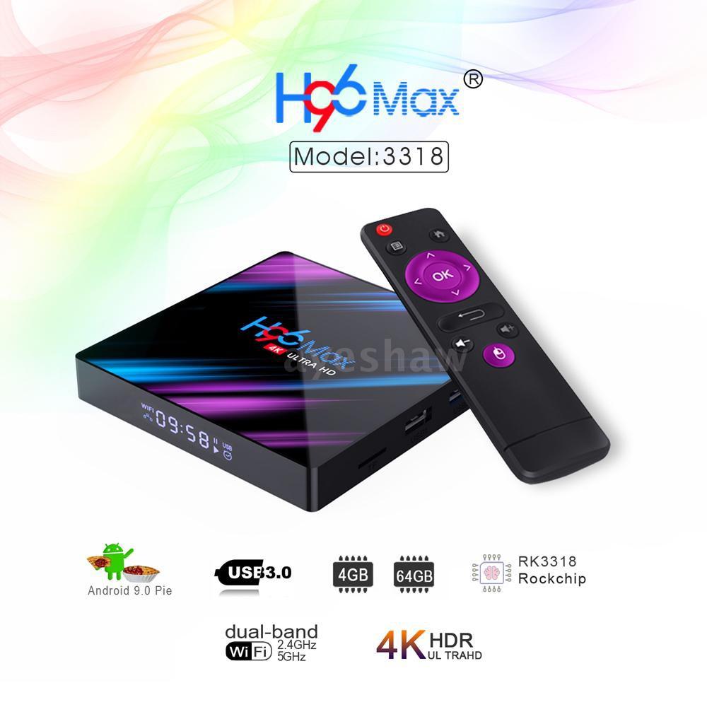 H96 Max H2 Android 7.1 Smart TV Box 4GB//64GB RK3328 Dual WIFI 4K Media Player HD