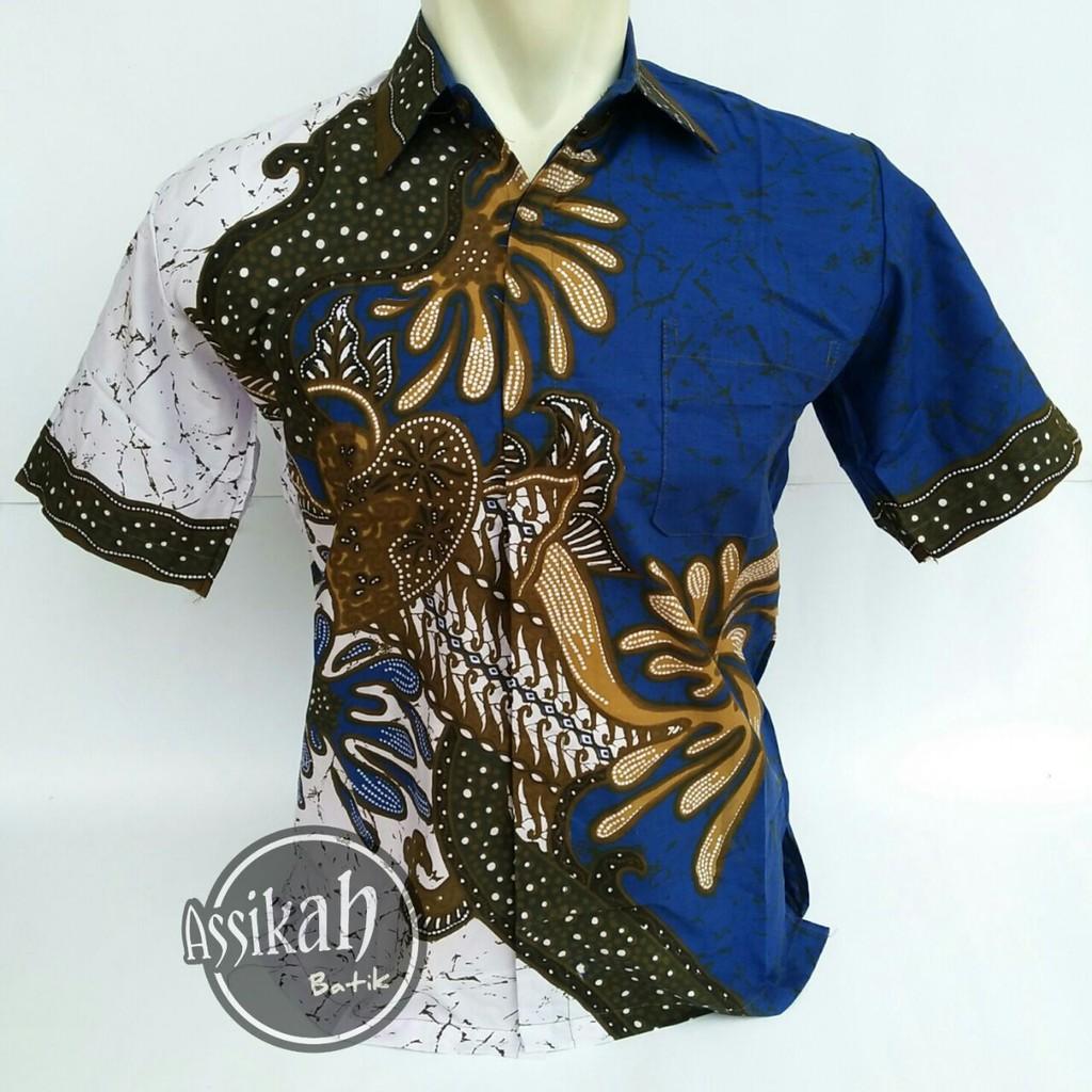 Kemeja Batik atasan pria khas pekalongan model modern  67f94f664a