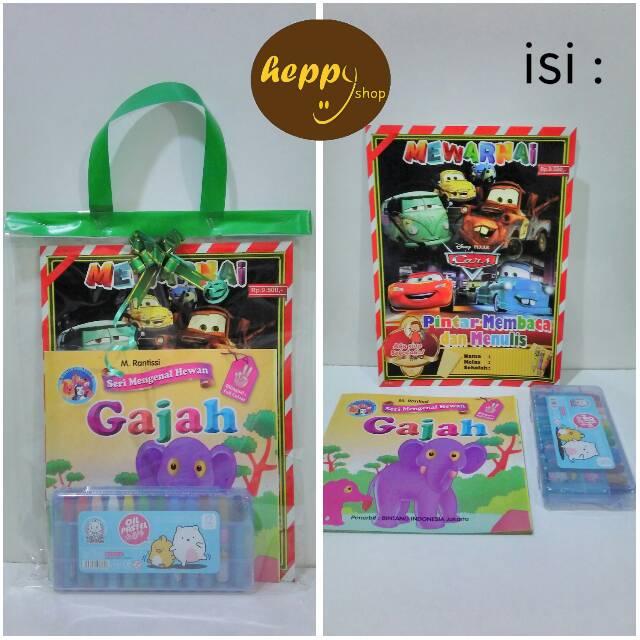 Not Packing Paket Mewarnai Crayon Buku Mewarnai Shopee Indonesia