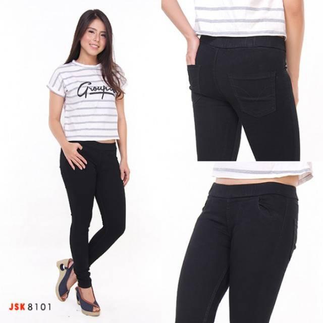 Celana Levis Pria Wanita Original Celana Panjang Legging Jeans Wanita Pinggang Karet Jegging Shopee Indonesia