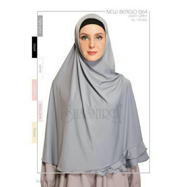 Diskon New Bergo 064 Shasmira Hijab Instan Spandek Sutra Premium Pet Antem Adem Dan Nyamam Shopee Indonesia