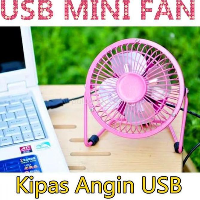BEST SALLER Nagada Kipas / Kipas Angin Mini Usb / Usb Mini Fan / Portable Usb Fan - Merah Muda >Term