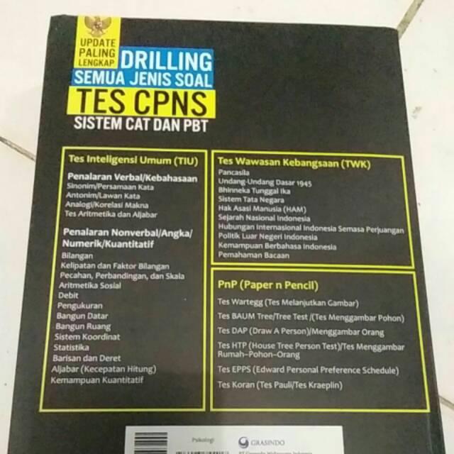 Buku Drilling Semua Orang Jenis Soal Tes Cpns