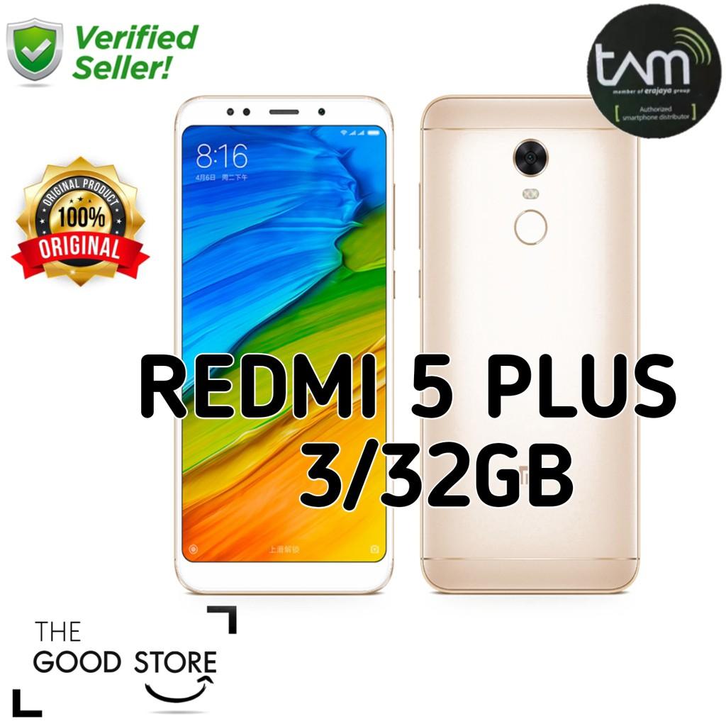 Xiaomi Redmi 5 Plus 3 32gb Garansi Resmi Tam 1 Tahun Shopee Ram Internal 32 Indonesia