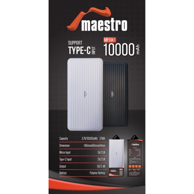 powerbank MAESTRO by V-gen 10.000mah original