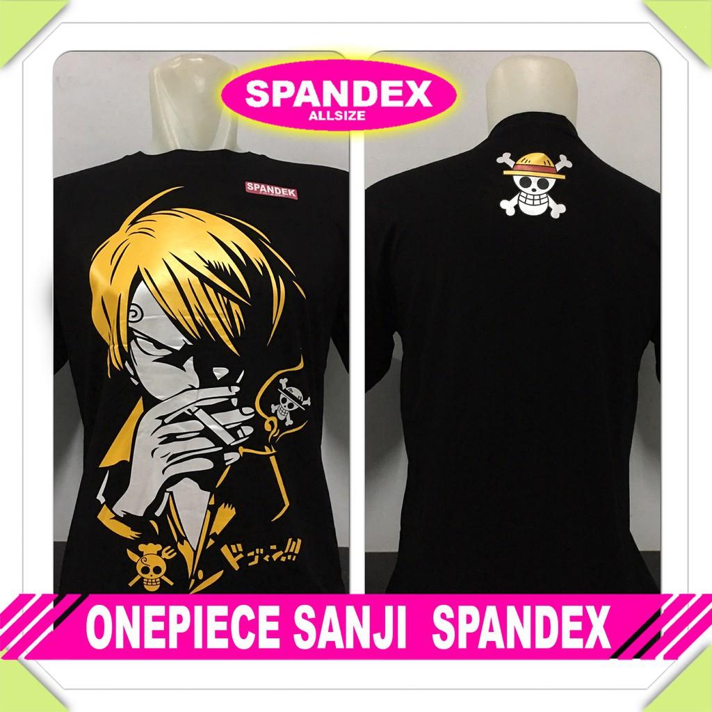Kaos Onepiece Sanji One Piece Anime Manga Komik Spandex Hitam Distro Shopee Indonesia