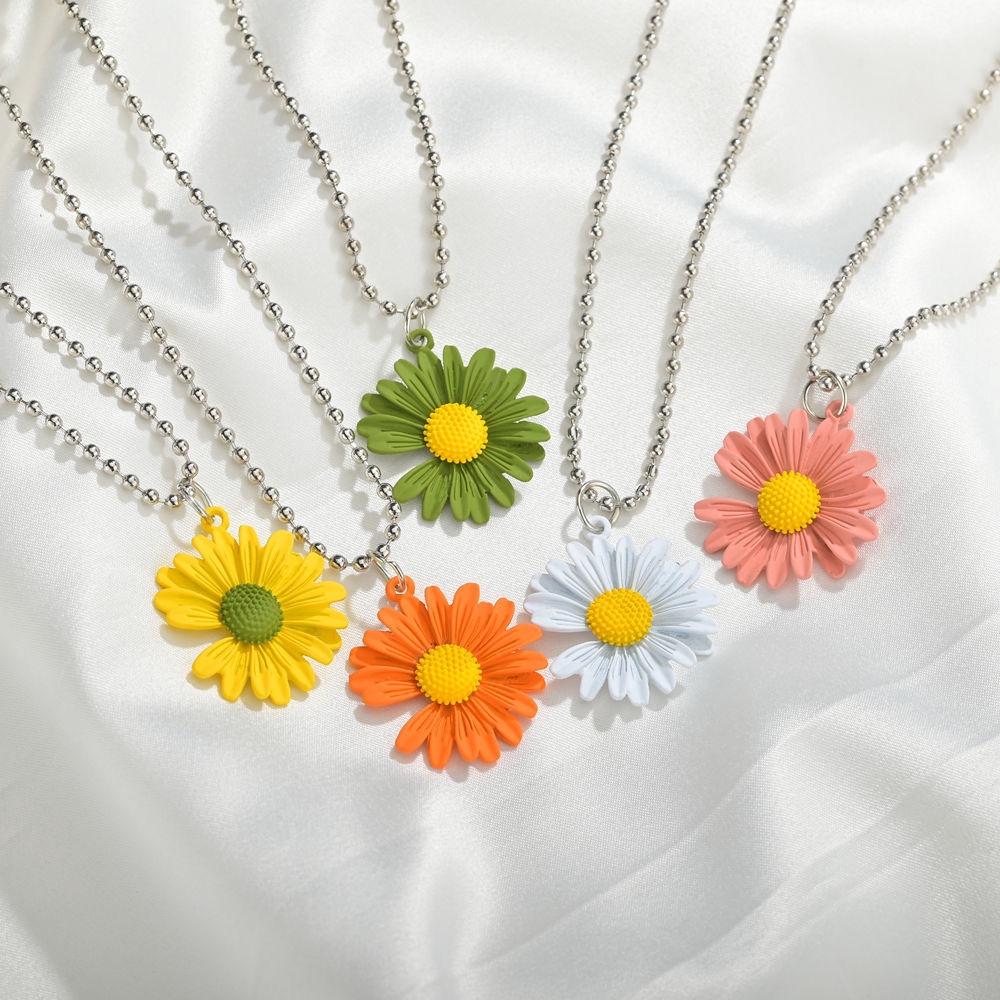 Pacar Bunga Matahari Manusia Kalung Siswi Versi Korea Dari Matahari Sederhana Saudara Liontin Tanama Shopee Indonesia