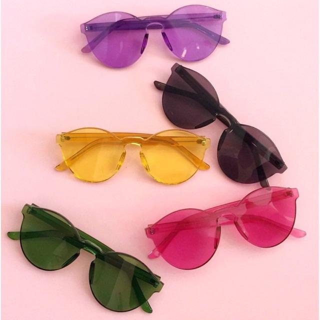 Thin Jelly geely sunglasses kacamata candy warna - Hitam  1c3b4acbcf