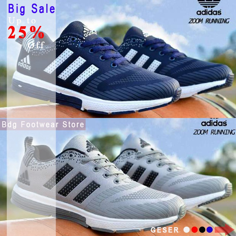 23b803a55520bb Sepatu Olahraga Sneakers Running Casual Jogging GYm Adidas Zoom Import