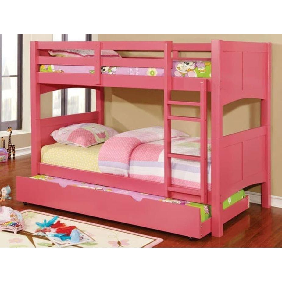 Bunk Bed Tempat Tidur Anak Warna Pink