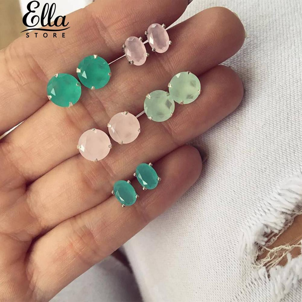 LRC Anting Tusuk Fashion Rose Gold Irregular Shape Decorated Earrings. Source · ellastock 5 Pasang