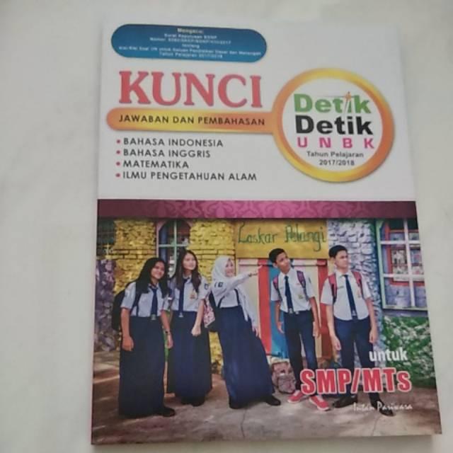 Buku Kunci Jawaban Detik Detik Unbk Smp Tahun Pelajaran 2017 2018 Shopee Indonesia