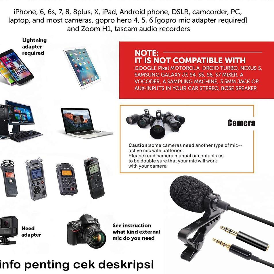 Langsung Atc Paket Mic Clip On Professional Microphone Klip External Hp Kamera Dslr Mirrorless Kom Shopee Indonesia