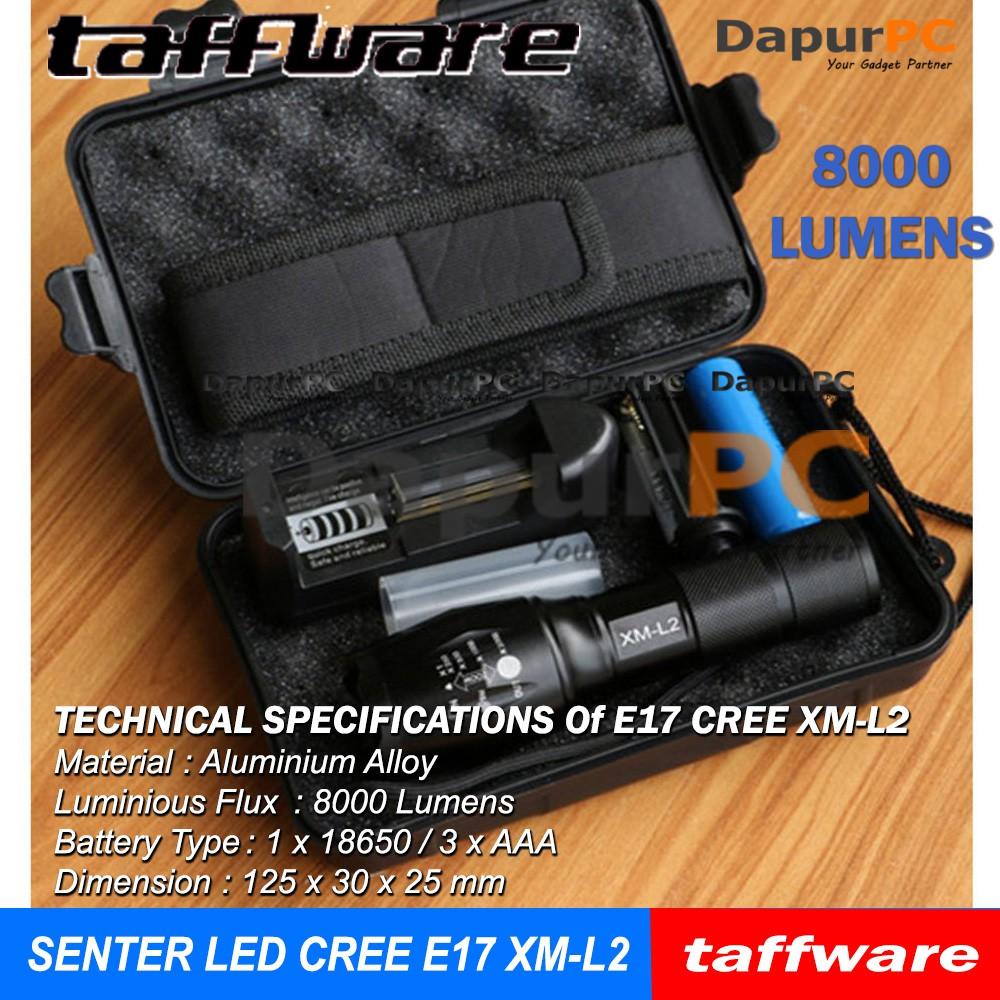 Ultrafire: Senter CREE T6 LED 6000Lumen Anti Air+Baterai Li-ion+Pengisi Daya US | Shopee Indonesia