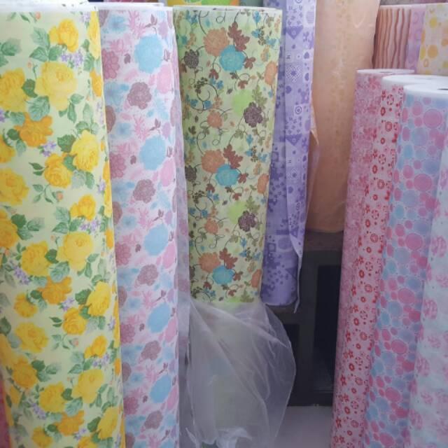 Wallpaper Dinding Murah Bahan Fabrik Anti Lembab