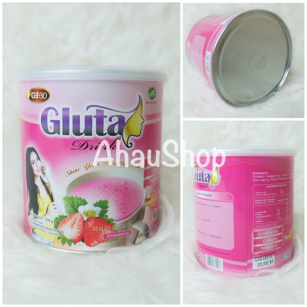 Gluta Drink Kemasan Kaleng Original-Minuman Susu Kecantikan Kulit dan Pelangsing / Gluta Drink 250gr | Shopee Indonesia
