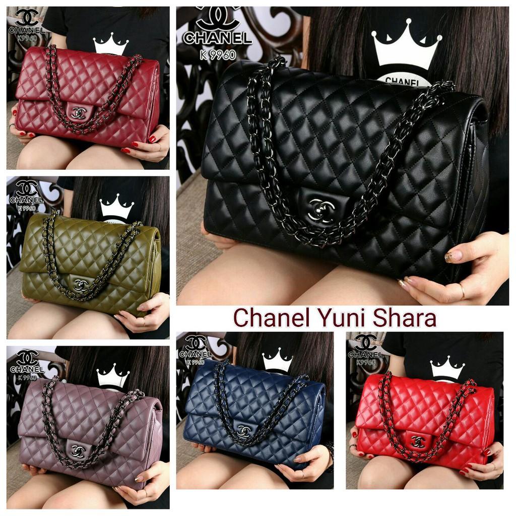 Tas Chanel Flap Chain Yuni Shara Semi Ori K7745  cb1d316da6