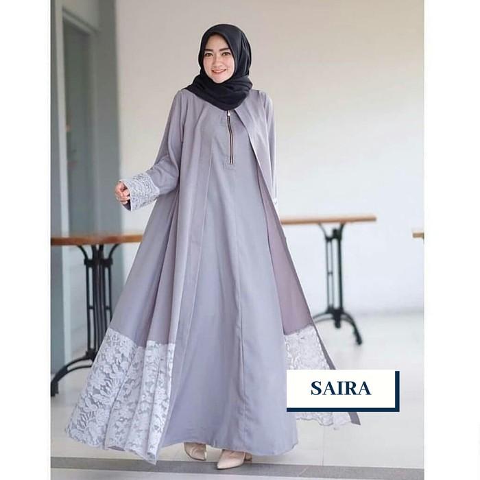 Gamis Lebaran 2020 Remaja Model Gamis Terbaru Maxi Yuni Supe Fk238 Saira Abaya Brukat Gaun Muslim Shopee Indonesia