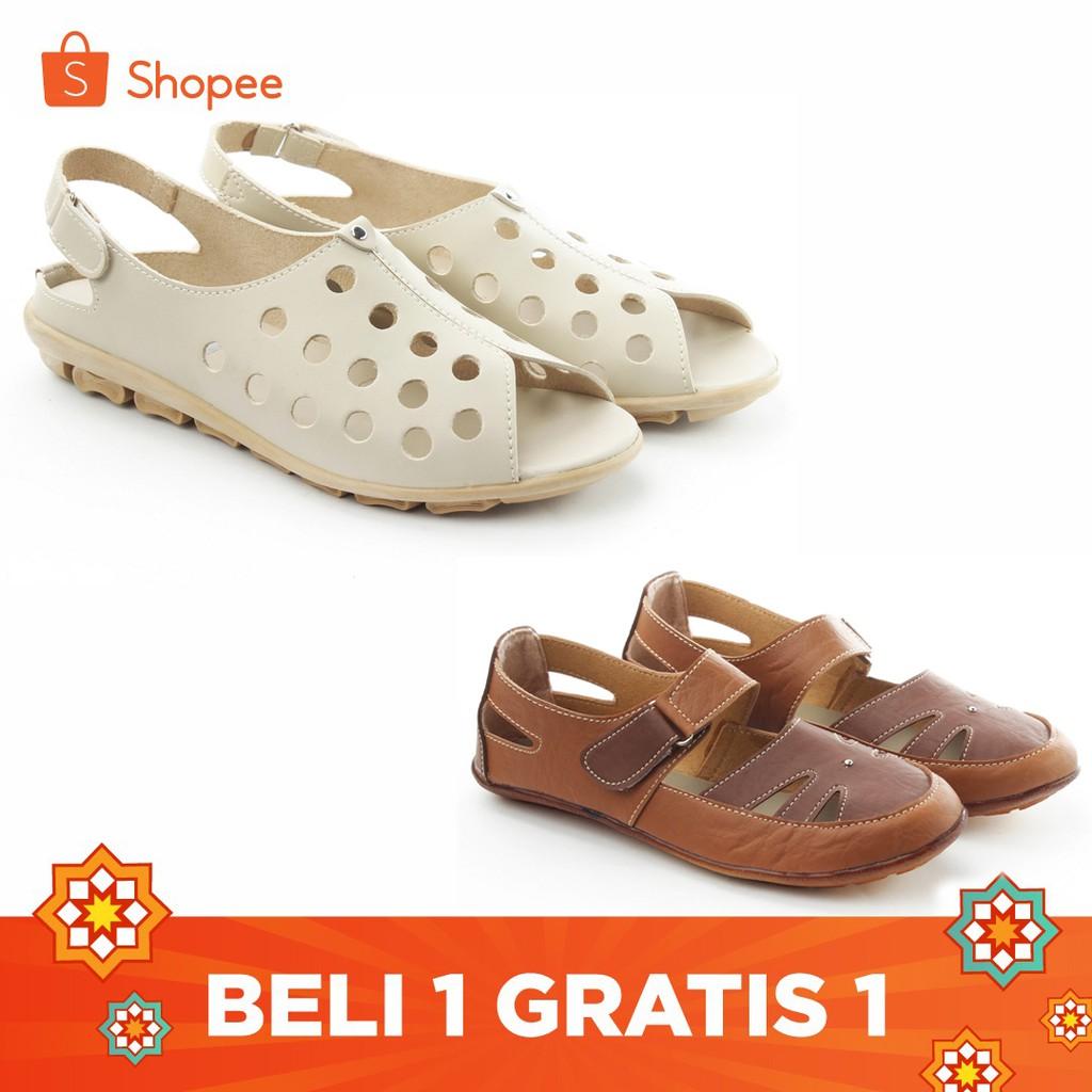 Yutaka Sepatu Wanita B3 Cream + Gratis Sepatu Sp30 Tan | Shopee Indonesia