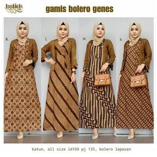 Batik Solo Gamis Bolero Genes Batieksolo Batik Amanah Surakarta