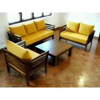 Set Meja Kursi Ruang Tamu Retro Minimalis Klasik Modern Kayu Jati Jepara Furniture