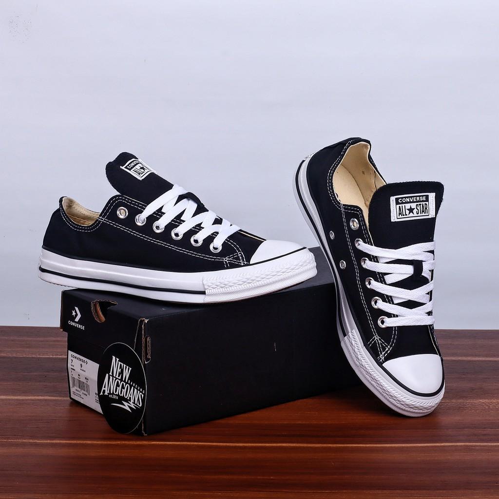 Sepatu Converse Ct All Star Basic Classic Black White Hitam Putih