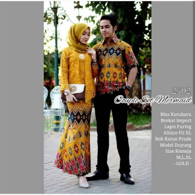 Baju Batik Couple Kebaya Brokat Modern Untuk Pesta Model Modern Terbaru Murah