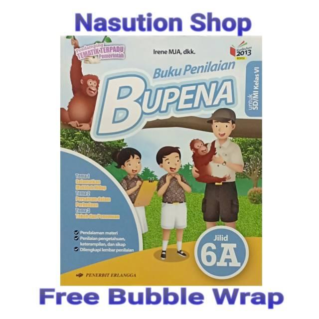 Original Buku Bupena Kelas 6 Sd 6a K13 Revisi Erlangga Shopee Indonesia