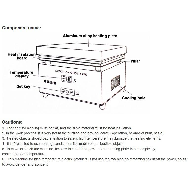 Heater Alat Pembuka Lcd Dan Touchscreen Hp Iphone Samsung Sony