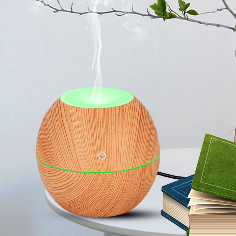 Aroma Diffuser Ultrasonic Air Humidifier Aromatherapy Essential Oil Diffuser Wood Design 130m Shopee Indonesia