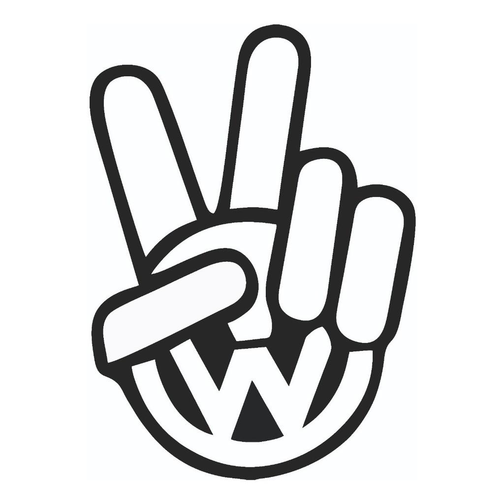 Stiker Sticker Cutting Logo Volkswagen Vw Logo Keren Shopee Indonesia