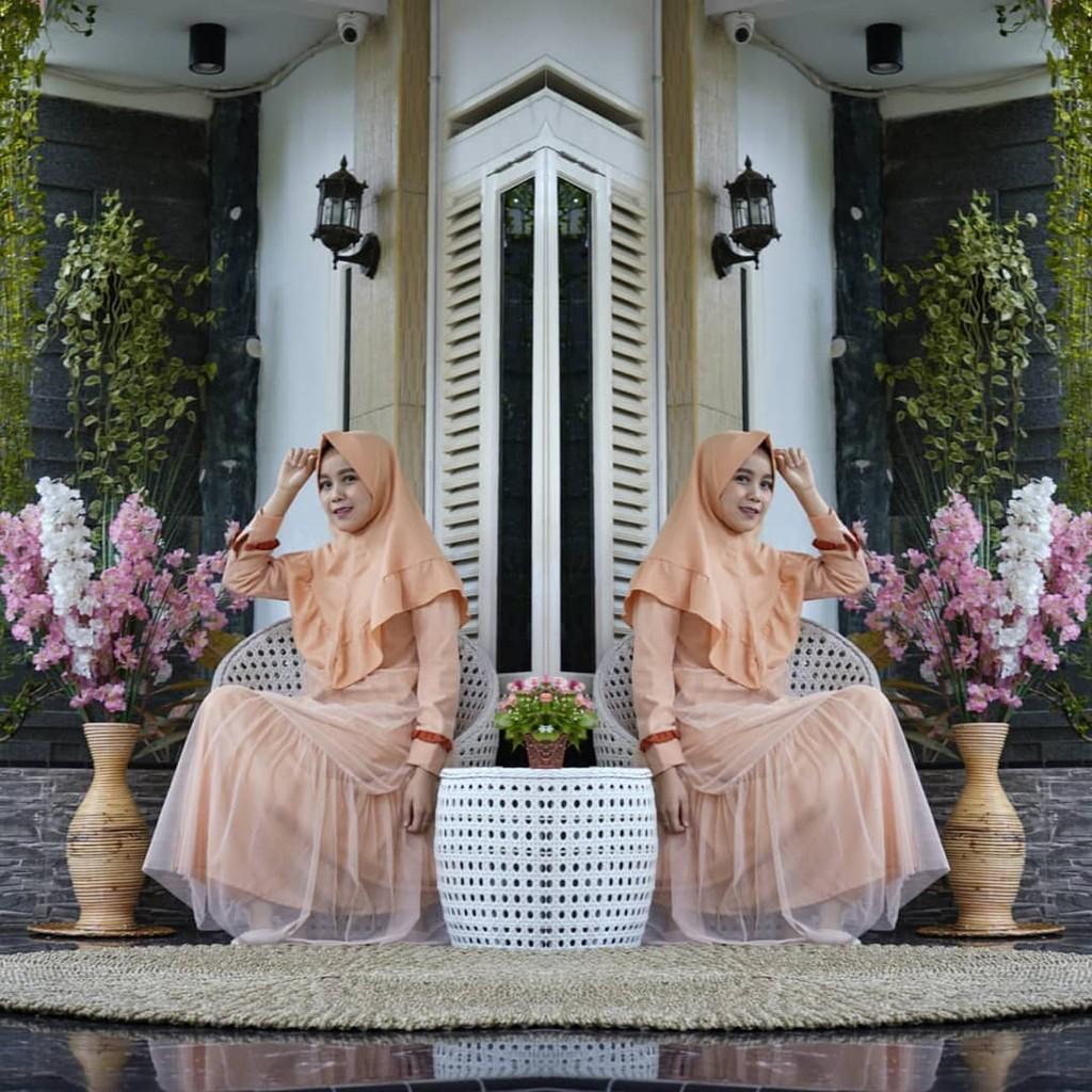Rumina Syar I Remaja Ik Fashion Muslim Dress Gamis Bahan Moscrepe Pakaian Wanita Casual Hijab Grosir Shopee Indonesia