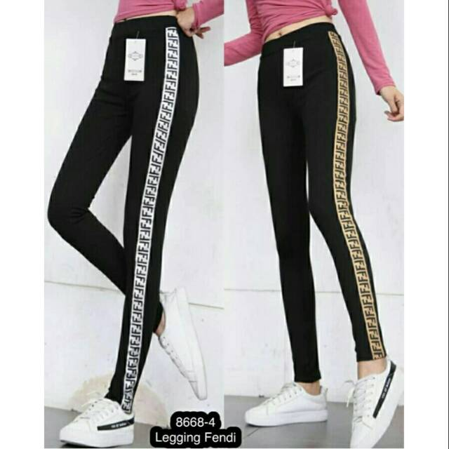 Legging Fendi Bahan Tebal Shopee Indonesia