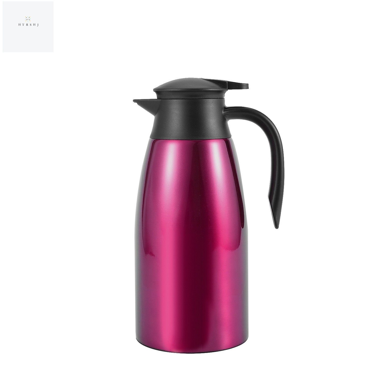 NINGWANG Purple 304 Steel 2L Thermal Flask Vacuum Insulated Water Pot Coffee Tea Milk Jug Thermal Pitcher for Home and Office