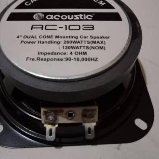"""Bagus  Speaker woofer 4inch 4in acoustic / speaker mobil acoustic 4"""" 260watt . . . ."""